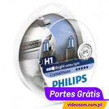 Philips Crystal Vision H1 + W5W ( 4 Bulbs )