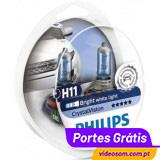 Philips Crystal Vision H11 12V 55W ( 2 Lâmpadas )